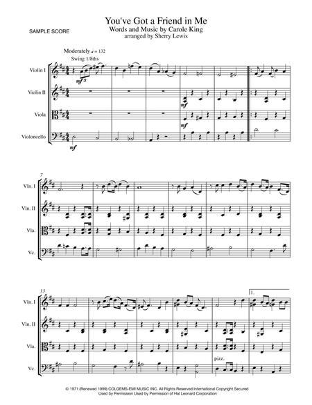 You've Got A Friend STRING QUARTET (for string quartet)