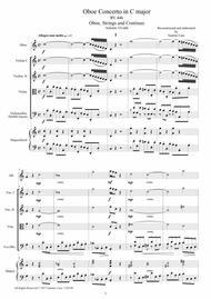 Vivaldi - Oboe Concerto in C major RV 447 for Oboe, Strings and Continuo - Score and Parts