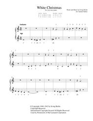 White Christmas - for very easy piano
