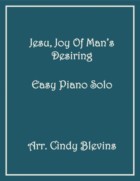 Jesu, Joy of Man's Desiring, Easy Piano Solo
