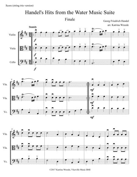 Handel's Hits from the Water Music Suite - Finale (for string trio)