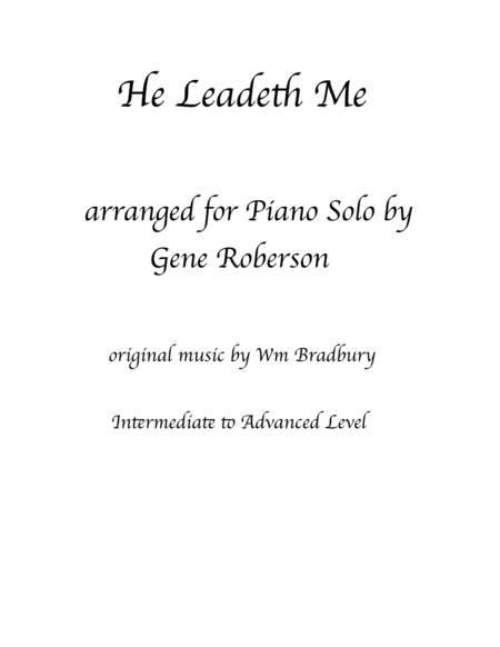 He Leadeth Me  Piano Solo