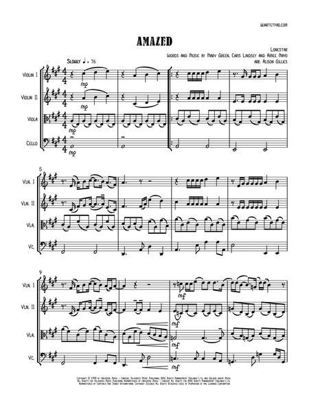Amazed - String Quartet