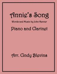 Annie's Song, arranged for Piano and Bb Clarinet