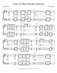 Come, O Thou Traveler Unknown SATB with guitar chords