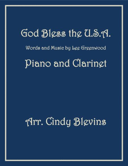 God Bless The U.S.A., arranged for Piano and Bb Clarinet
