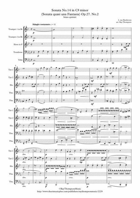 Download Beethoven: Piano Sonata No 14 In C# Minor (Sonata