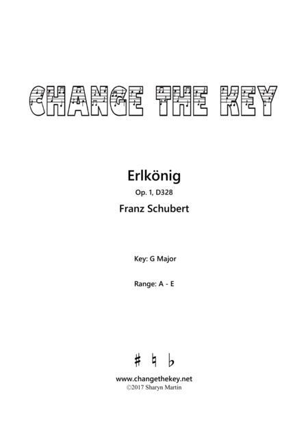 Erlkonig Op.1, D328 - G major