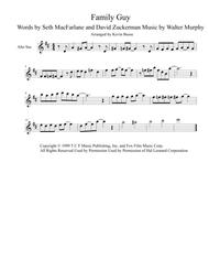 Download Theme From Family Guy - Alto Sax Sheet Music By
