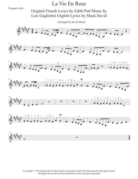 La Vie En Rose - Trumpet