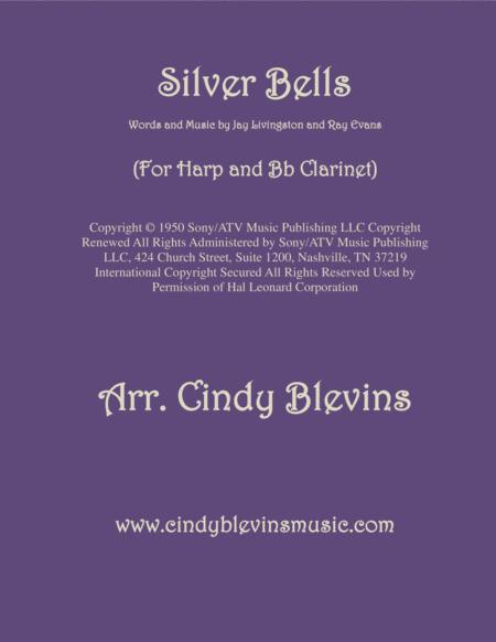 Silver Bells, arranged for Harp and Bb Clarinet