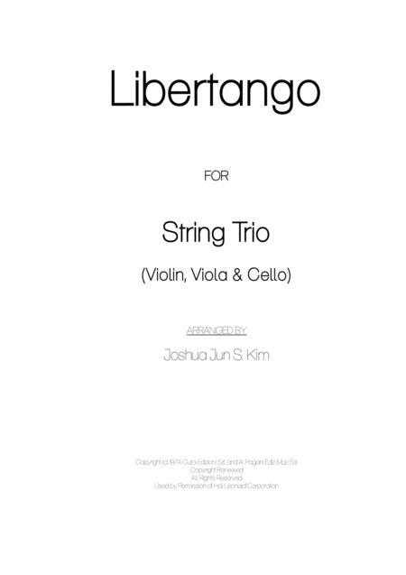 Libertango for String Trio (Enjoy Tango Version)