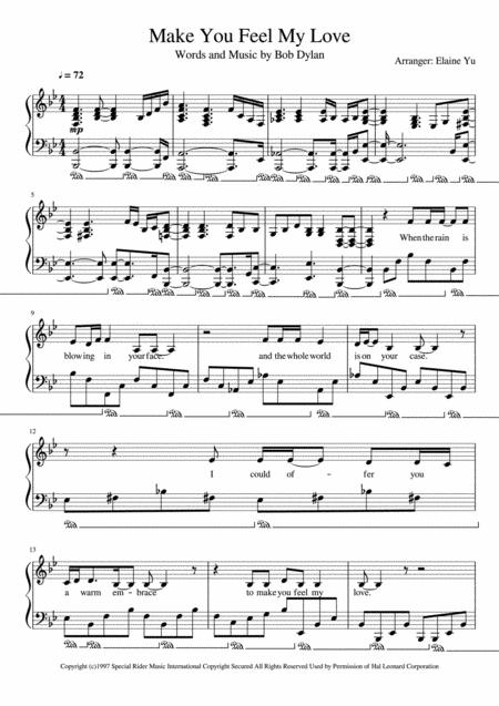 Download Make You Feel My Love Sheet Music By Adele - Sheet Music Plus