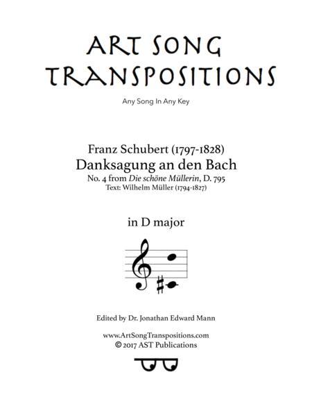 Danksagung an den Bach, D. 795 (D major)