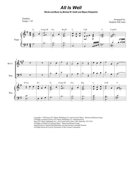 All Is Well (for Woodwind Quartet)