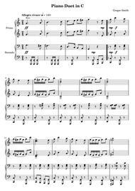 Piano Duet in C
