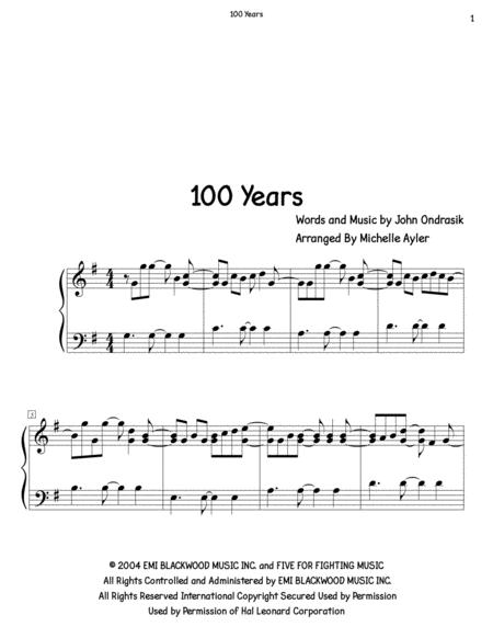 100 Years (Piano Solo)