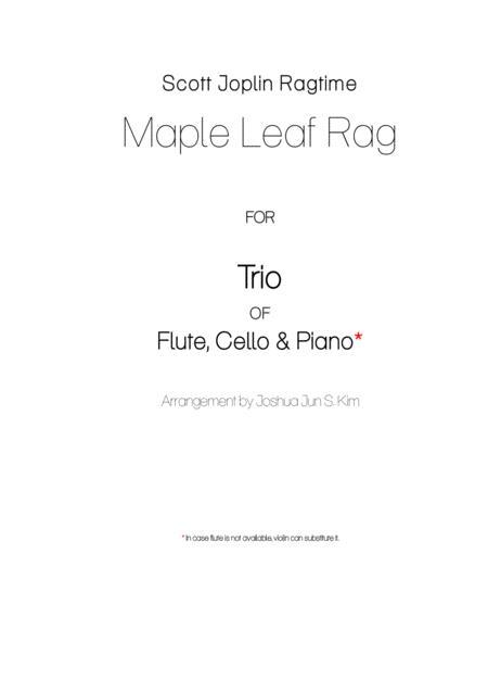 Maple Leaf Rag for Trio (flute, cello & piano)