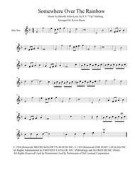 Somewhere Over The Rainbow (Original key) - Alto Sax
