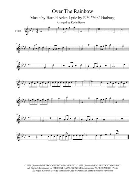 Download Somewhere Over The Rainbow (Original Key) - Flute Sheet ...