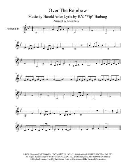 Download Somewhere Over The Rainbow Original Key Trumpet Sheet