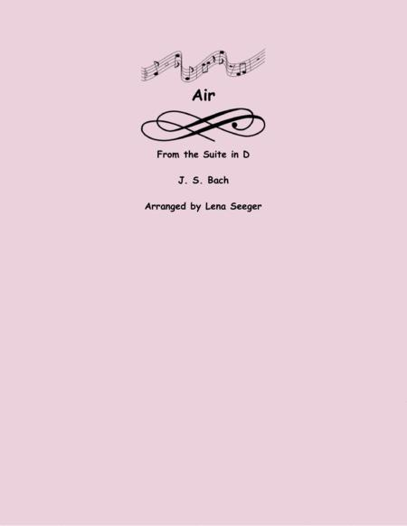 Air from Suite in D (flute choir)
