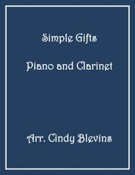 Simple Gifts, arranged for Piano and Bb Clarinet