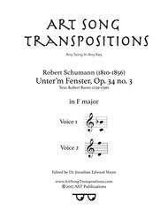 Unter'm Fenster, Op. 34 no. 3 (F major)