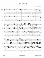 Pachelbel: Canon in D Major transcribed for 3 Violin and Cello