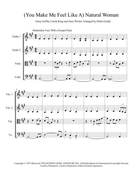(You Make Me Feel Like) A Natural Woman arranged for String Quartet