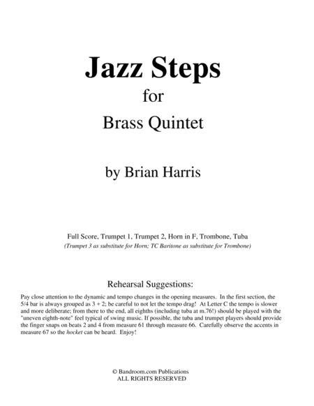 JAZZ STEPS for Brass Quintet (score & parts, limited range demands, medium)