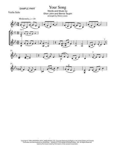 Your Song VIOLIN SOLO (for solo violin)