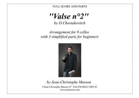 Valse N2 By Chostakovitch For 8 Celli Score And Parts