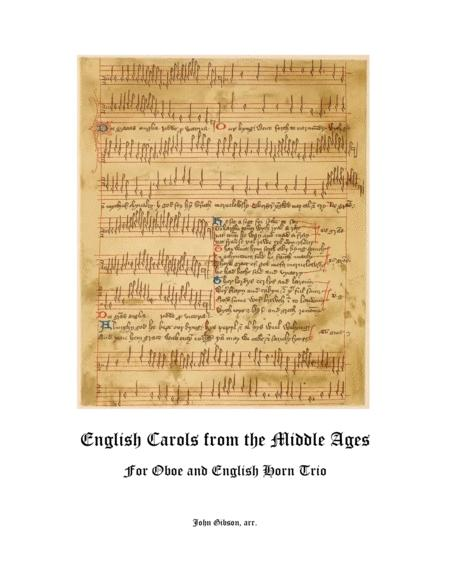 English Carols From the Middle Ages - Oboe and English Horn Trio