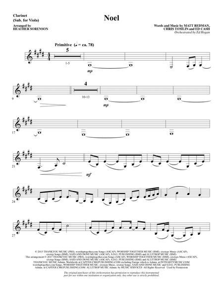 Noel (feat. Lauren Daigle) (arr. Heather Sorenson) - Clarinet (sub Viola)