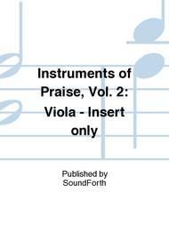 Instruments of Praise, Vol. 2: Viola - Insert only