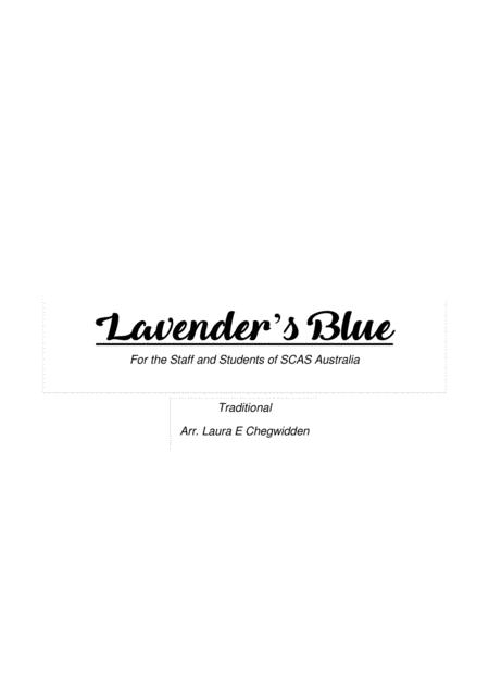 Lavender's Blue for Beginner String Orchestra