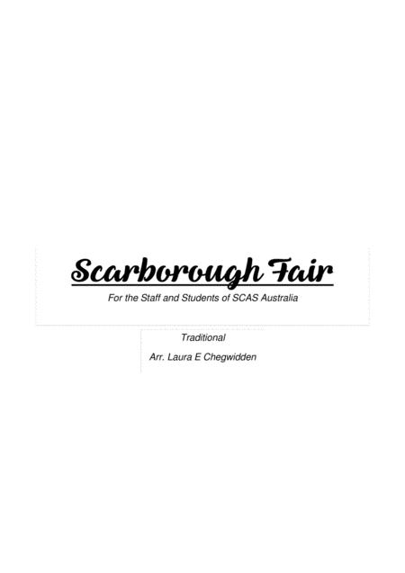 Scarborough Fair for Beginner String Orchestra
