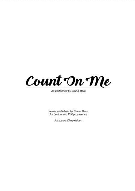 Count On Me for String Quartet