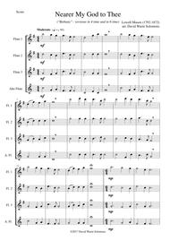 Nearer my God to Thee (Bethany) for flute quartet (3 flutes and 1 alto flute)