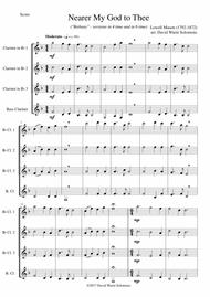 Nearer my God to Thee (Bethany) for clarinet quartet (3 clarinets and 1 bass or 4 clarinets)