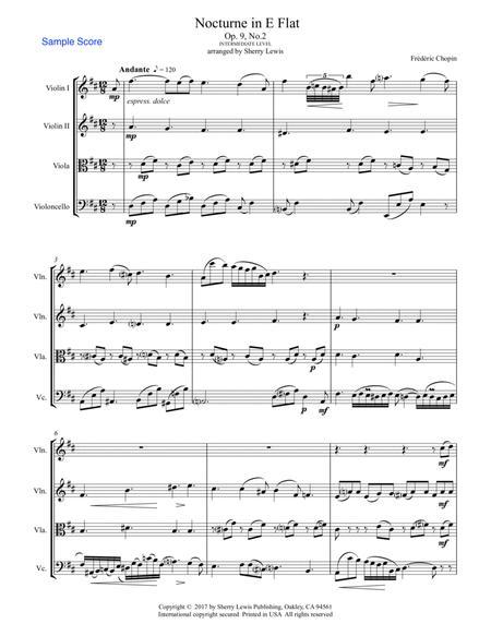 Nocturne Op. 9 No. 2 for STRING QUARTET