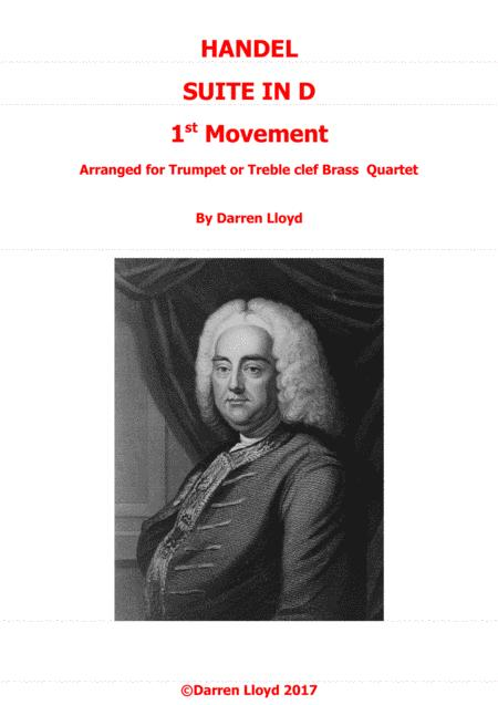 Handel's water music - 1st movement for Trumpet/Brass quartet
