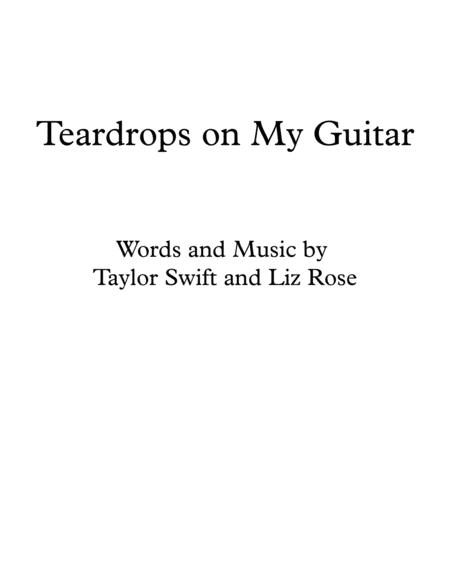 Preview Teardrops On My Guitar Easy Guitar By Taylor Swift H0