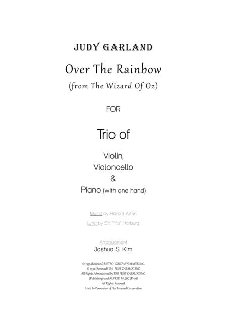 Over The Rainbow in Hawaiian Style for Trio - violin, cello & piano (with one hand)