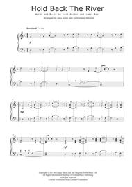 Download Hold Back The River Easy Piano Solo Sheet Music