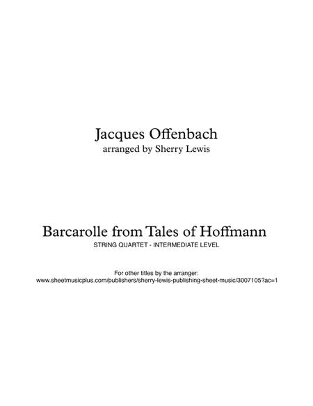 Barcarolle from Tales of Hoffmann for STRING QUARTET