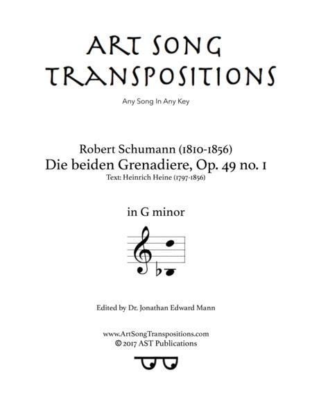 Die beiden Grenadiere, Op. 49 no. 1 (G minor)