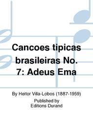 Cancoes tipicas brasileiras No. 7: Adeus Ema