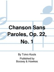 Chanson Sans Paroles Op 22 No 1 Sheet Music By Toivo Kuula